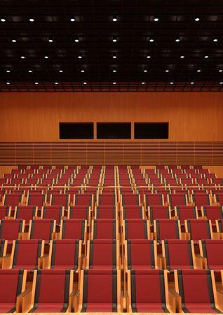 3D rendering of a recital hall interior