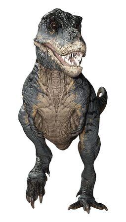 3D rendering of a dinosaur Tyrannosaurus Rex isolated on white background Zdjęcie Seryjne