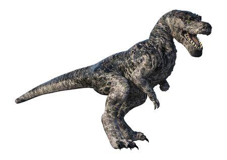 3D rendering of a dinosaur Tyrannosaurus isolated on white background Reklamní fotografie