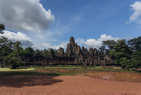 angkor thom: Bayon temple in Angkor Thom,Siem Reap,Cambodia Stock Photo