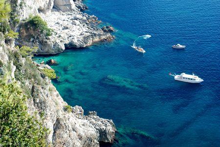 Azure sea at Capri island  photo