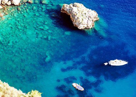 Azure sea at Capri island