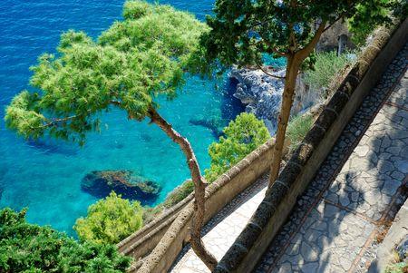 capri: Via Krupp at Capri Island