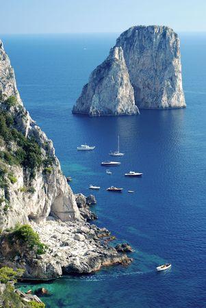 capri: Faraglioni rocks at Capri island