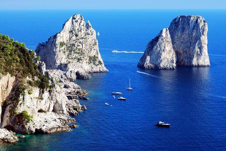 Faraglioni rocks at Capri island photo