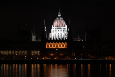 lightsome: Illuminated Parliament building in Budapest at night