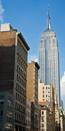 empire state building: NEW YORK - CIRCA JULY 2009: The Empire State Building circa July 2009 in New York City. After the terrorist attack on 91101, this is the tallest building in New York and 3rd in USA.