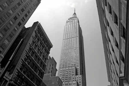 5th: NEW YORK - CIRCA JULY 2009: The Empire State Building circa July 2009 in New York City, USA. After the terrorist attack on 91101, this is the tallest building in New York and 3rd in USA. Editorial
