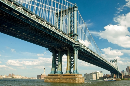 manhattan bridge: Manhattan bridge in New York City