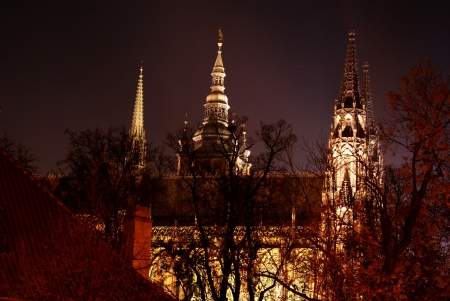 lightsome: Prague Castle at night
