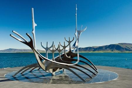 viking ship: Solfar Suncraft in Reykjavik on Iceland