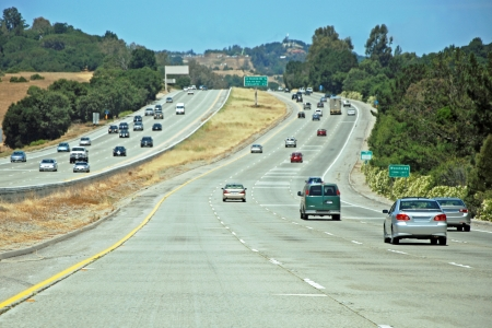 American freeway with a cars