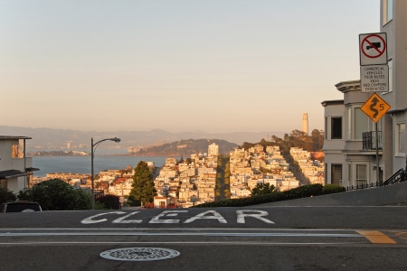 View of the San Francisco during the sunset. Stock Photo - 18346116