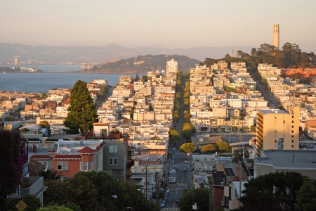 residents: View of the San Francisco during the sunset.