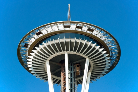 SEATTLE - OCTOBER 26, 2011: Space Needle in Seattle on October 26, 2011 in Seattle, USA. The Space Needle was built in 1962 and is a symbol of that year