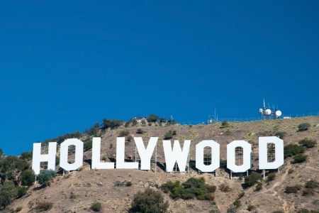 HOLLYWOOD, CALIFORNIA - OCTOBER 8, 2011 - Hollywood sign on Santa Monica mountains in Los Angeles October 8, 2011 in Los Angeles, USA. It was originally created as an advertisement for local real estate development in 1923. Stock Photo - 18369220