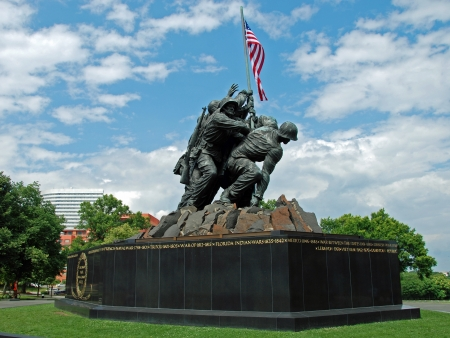 american soldier: WASH DC - CIRCA JULY 2009: Iwo Jima Memorial circa July 2009 in Wash DC, USA. Memorial dedicated to all personnel of United States Marine Corps who have died in defense of their country since 1775.