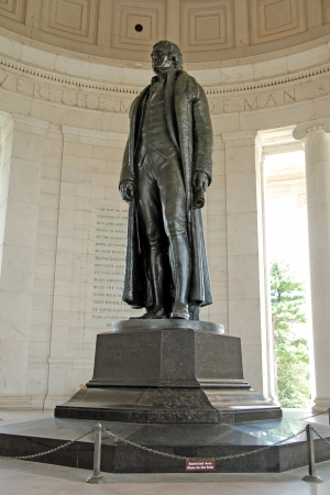 Statue of president Thomas Jefferson at Jefferson Memorial in Washington DC Stock Photo - 18369662