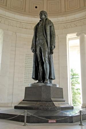 thomas: Statue of president Thomas Jefferson at Jefferson Memorial in Washington DC