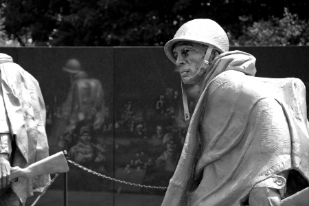 WASH DC - CIRCA JUNE 09: Sculptures at Korean war veterans memorial in Washington DC circa June 2009. The memorial was dedicated July 27, 1995, the 42nd anniversary of the armistice ending the war.