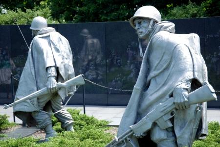 armistice: WASH DC - CIRCA JUNE 09: Sculptures at Korean war veterans memorial in Washington DC circa June 2009. The memorial was dedicated July 27, 1995, the 42nd anniversary of the armistice ending the war.