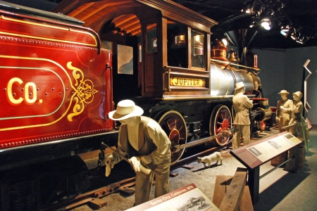 railway history: WASH DC - CIRCA JUNE 09: National Museum of American History circa June 09 in Washington DC, USA. Museum is completely renovated and consists of 3 million artifacts from nation american past. Editorial