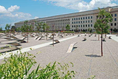 pentagon: WASHINGTON DC - CIRCA JUNE 2009: Pentagon memorial circa June 2009 in Washington DC, USA. Permanent outdoor memorial to people killed in building and in Flight 77 in the September 11, 2001 attacks. Editorial