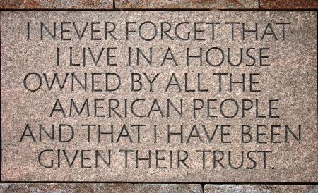 delano: Quotation in the Franklin Delano Roosevelt Memorial in Washington DC Editorial