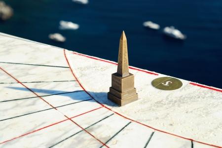 reloj de sol: Reloj de sol en la isla de Capri