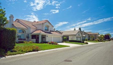 brand new: New American dream home panorama Stock Photo