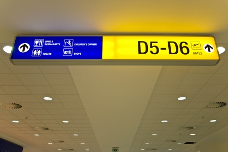 Airport direction sign photo