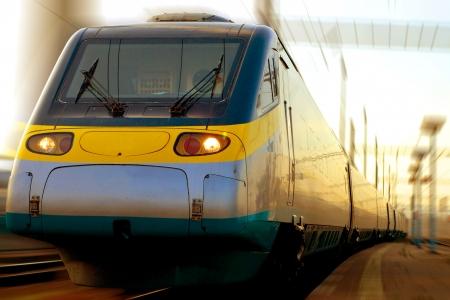 モーションの高速鉄道 写真素材