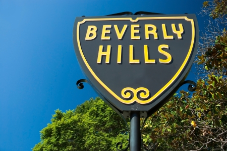Beverly Hills sign in Los Angeles park with beautiful blue sky in background Stock Photo - 18479345