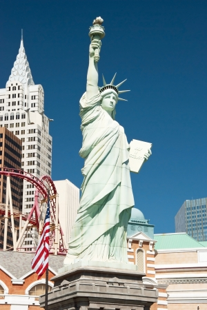 Replica of the Statue of Liberty in New York-New York on the Las Vegas Strip photo
