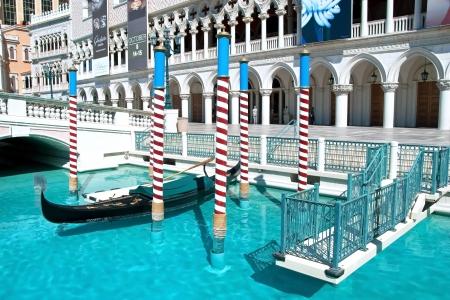 lifelike: LAS VEGAS - SEPTEMBER 28, 2011 -  Venetian Casino Hotel Resort on the Las Vegas Strip on September 28, 2011 in Las Vegas, USA. This hotel features a lifelike replica tower of St Marks Campanile in Venice. Editorial