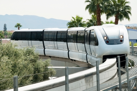 unincorporated: LAS VEGAS - SEPTEMBER 30, 2011 -  Monorail arriving to the station on the Las Vegas Strip on September 30, 2011 in Las Vegas, USA. It connects the unincorporated communities of Paradise and Winchester. Editorial