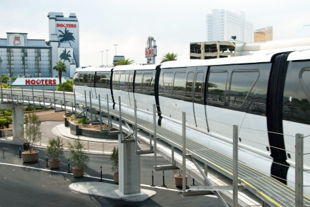 unincorporated: LAS VEGAS - SEPTEMBER 30, 2011 -  Monorail arriving to the station on the Las Vegas Strip on September 30, 2011 in Las Vegas, USA. It connects the unincorporated communities of�Paradise�and Winchester.