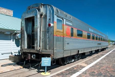 railway history: Historical passenger car in Grand Canyon National Park