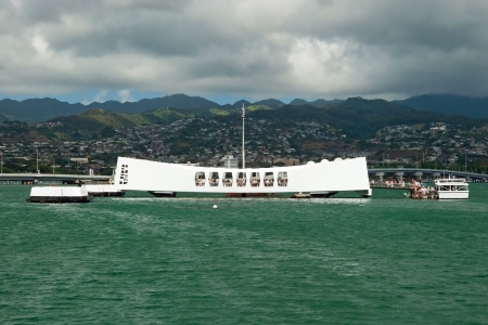 USS Arizona Memorial in Pearl Harbor in Honolulu Hawaii photo