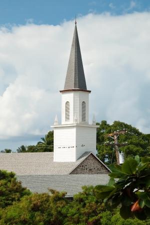 Mokuaikaua church in Kona on Big Island of Hawaii photo