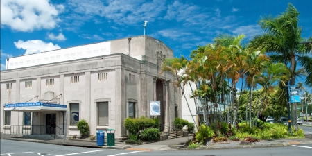 HILO, HAWAII - SEPTEMBER 8, 2011 � Pacific tsunami museum in Hilo on September 8, 2011 in Hilo, Hawaii  The museum is dedicated to the history of the April 1, 1946 Pacific Tsunami which devastated much of the Hilo