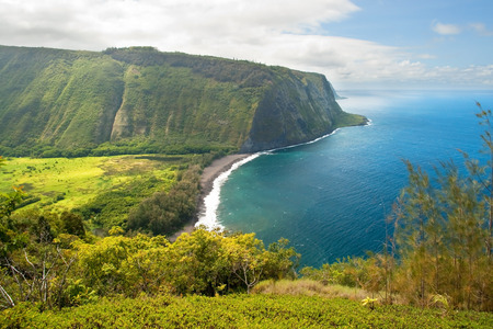 hill of the king: Waipio valley lookout on Hawaii Big Island
