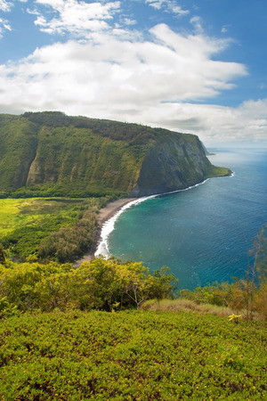 Waipio valley lookout sign on Hawaii Big Island photo