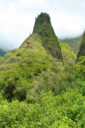 state park: Iao Needle in Valley State Park on Maui Hawaii