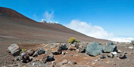 Haleakala Observatory in Haleakala National Park on Maui Island Hawaii panorama photo
