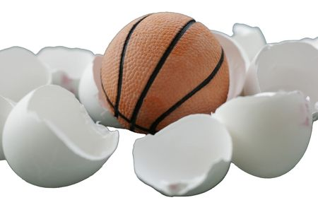 exception: A ball coming out of egg shells Stock Photo