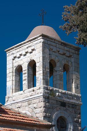 holyland: Old bell tower in Jerusalem Israel