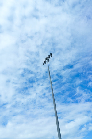 lamp and post on blue sky back ground Stock Photo