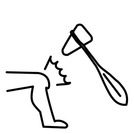 Coglione del martello e del ginocchio nell'illustrazione di vettore di azione Vettoriali