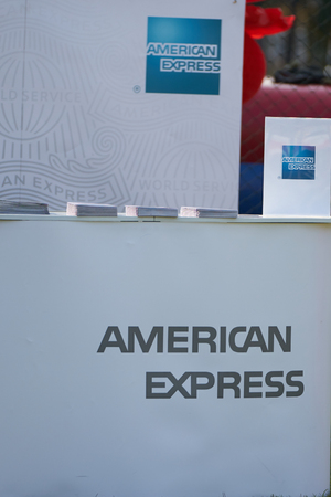 Bangkok ,Thailand,Feb 10,2018,American Express counter promotion outdoors